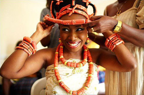 Nigerian Traditional Wedding Bridal Headpiece