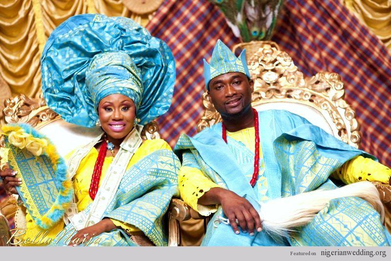 Nigerian Traditional Wedding Couple Photo