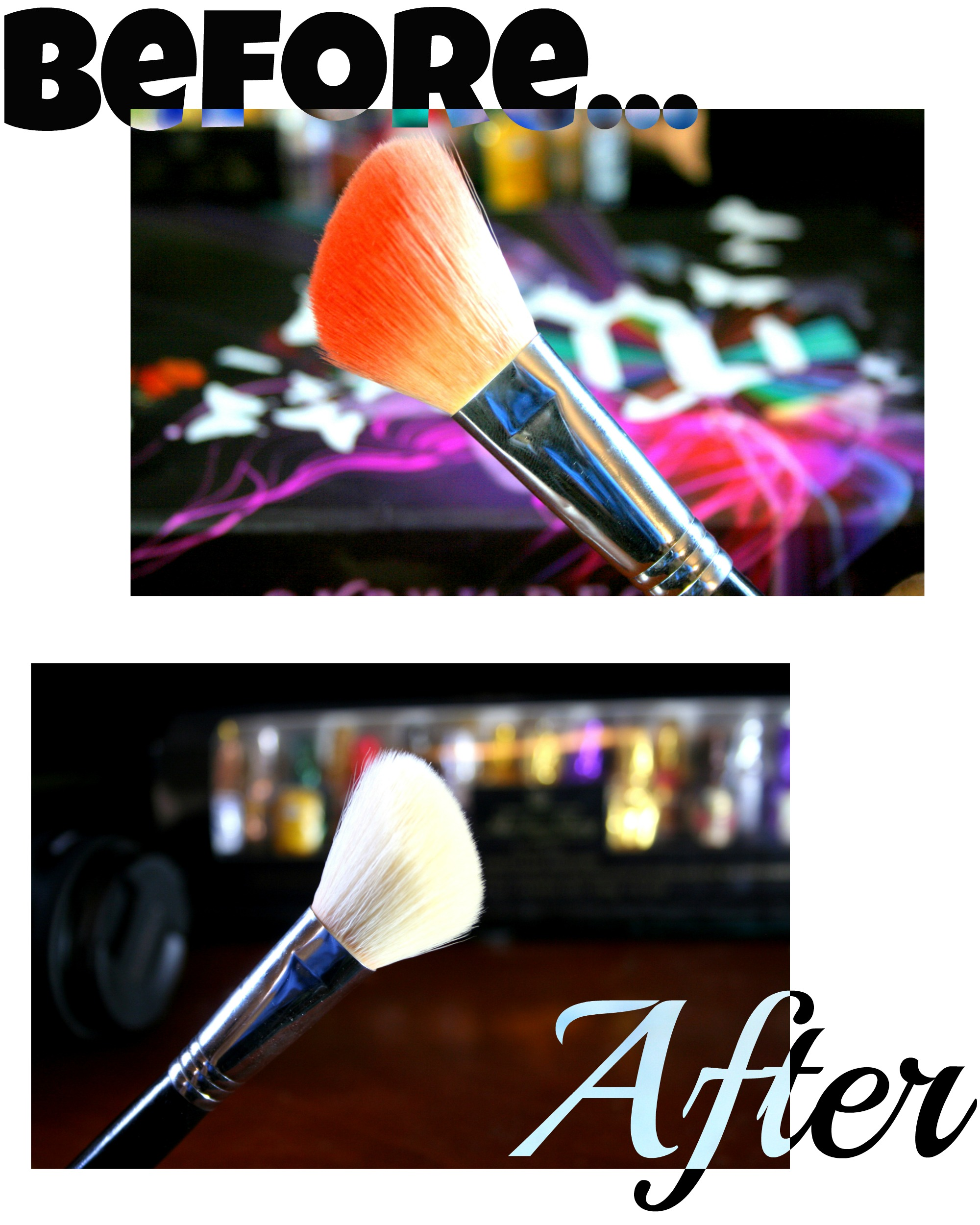 how to wash makeup brushes